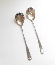 EPSA 1 Sheffield England Flatware Silver Plate Salad Server Spoon Fork Set - $14.95