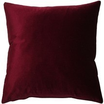 Pillow Decor - Corona Scarlet Velvet Pillow 19x19 - £38.12 GBP