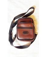 VINTAGE COASTAR SMALL SIZE BROWN & BLACK VINYL CAMERA BAG FOR CAMERA OR ... - $20.00