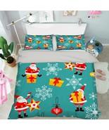 3D Christmas  Xmas 35 Bed Pillowcases Quilt Duvet Cover Set Single Queen... - $64.32+
