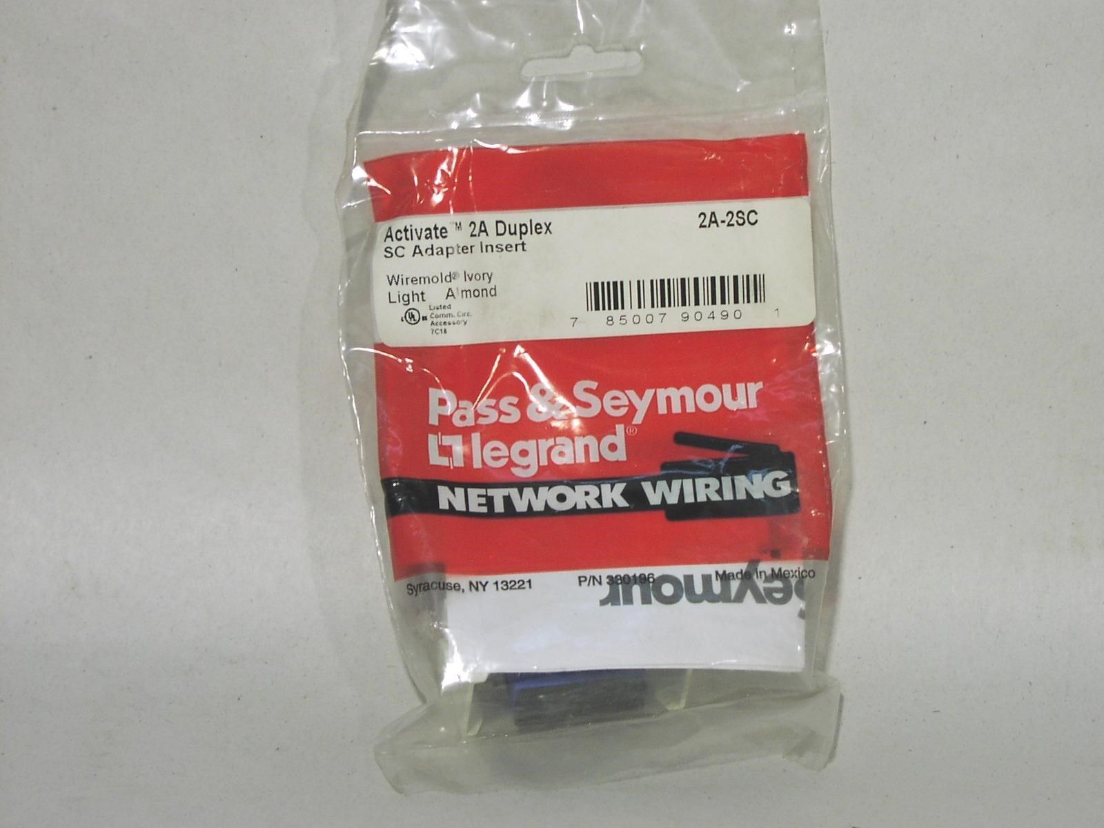 Primary image for Pass & Seymour 2A-2SC Duplex SC Fiber Ceramic Ferrule Single/Multimode NIB