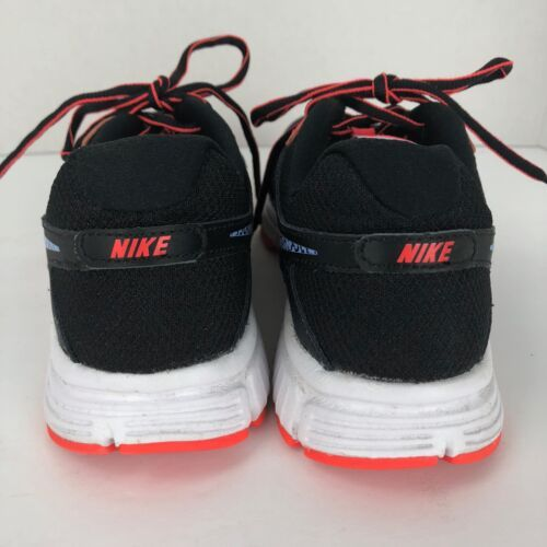 NIKE Revolution 2 Running Sneakers Black Orange Size 9 M  Lace Up 554900-029