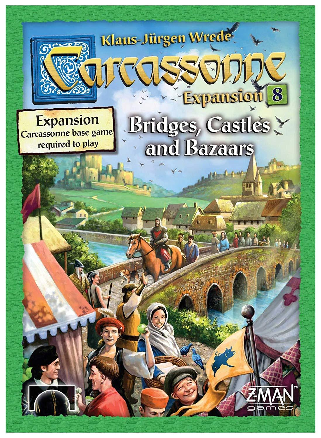 Carcassonne expansion 8 bridges  castles  and bazaars