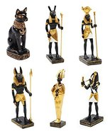 Ebros Egyptian Gods and Deities Anubis Osiris Seth Horus Bastet Thoth Mi... - $34.64