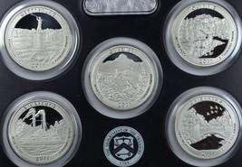 2011 S America the Beautiful silver proof set no box/coa  - $28.50