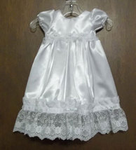 Preemie & Newborn Satin Rosebud Christening & Baptism Gown
