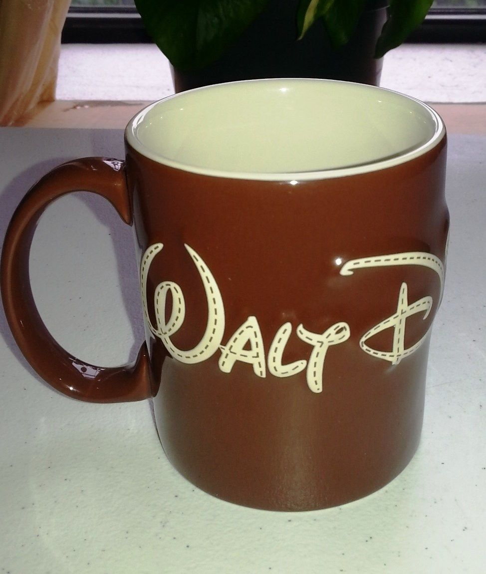 "DISNEY WORLD Authentic Original COFFEE MUG ""It Was all started By a Mouse""-NEW"