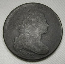 1802 Large Cent Normal Reverse  VG Details Coin Estate Piece AE283 - $64.76