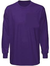 Plain Longsleeve Purple T Shirt Med  100% Preshrunk - $12.74