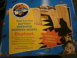 KIDS TEK BUILD YOUR OWN BATTERY OPERATED ELEPHANT MOVING MOTORIZED NIB WOOD - $4.87