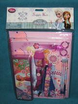Disney Store Frozen Elsa & Anna Pencil Box School Supply 11 Piece Kit. B... - $33.00