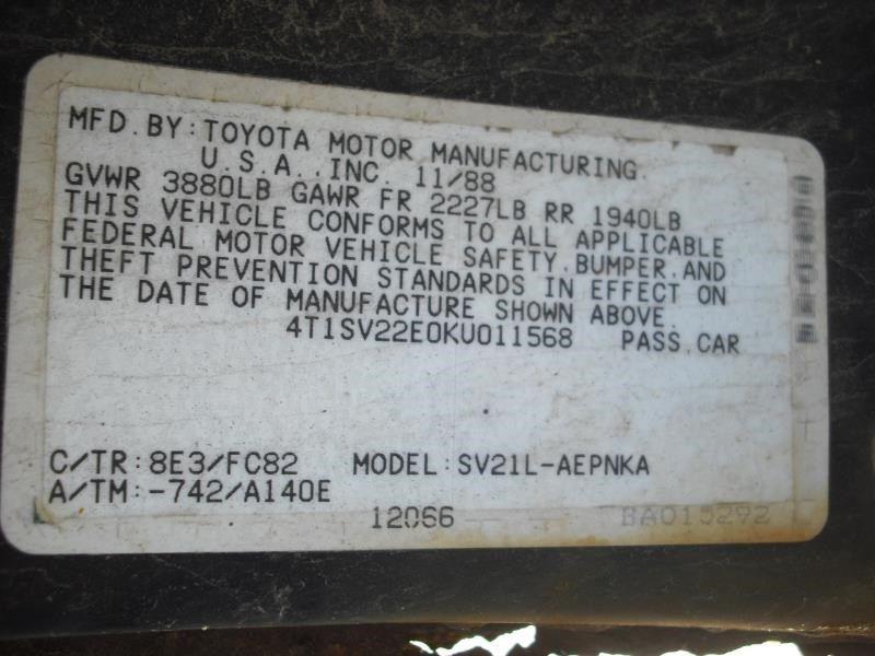 Driver Left Strut Front 2WD 4 Cylinder Fits 88-91 CAMRY 57347