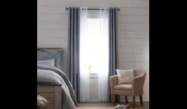 (1) JCP Home Sullivan DENIM BLUE WORN INDIGO Blackout Grommet Curtain 50... - $46.74