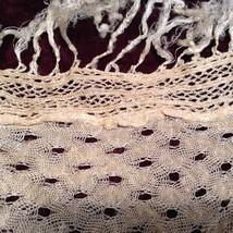 Antique Delicate Handmade Crocheted Silk Wrap image 2