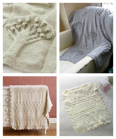 Tree Of Life Knitting Pattern Blanket : 2xVintage Knitting Patterns - Tree of Life, Apple Tree ...