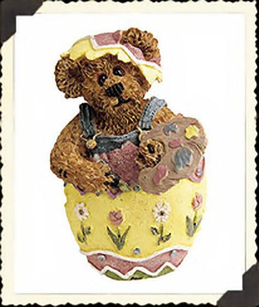 """Boyds BearWear """"Eggbert..The Artist"""" #81502-Resin Pin- Easter- New-2001- Retired"""