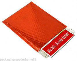 """Red Metallic Bubble Mailers Padded Envelope Bags 9"""" x 11.5"""" 400 / Cs - $239.32"""