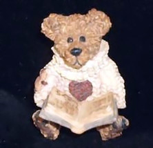 "Boyds BearWear ""Wilson.. Love Sonnets"" Resin Lapel Pin -#26020- New-1993-Retired - $10.99"