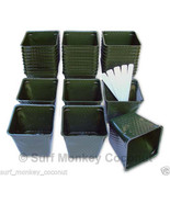 Plastic flower nursery plant pots lot of 36 containers! - $6.54