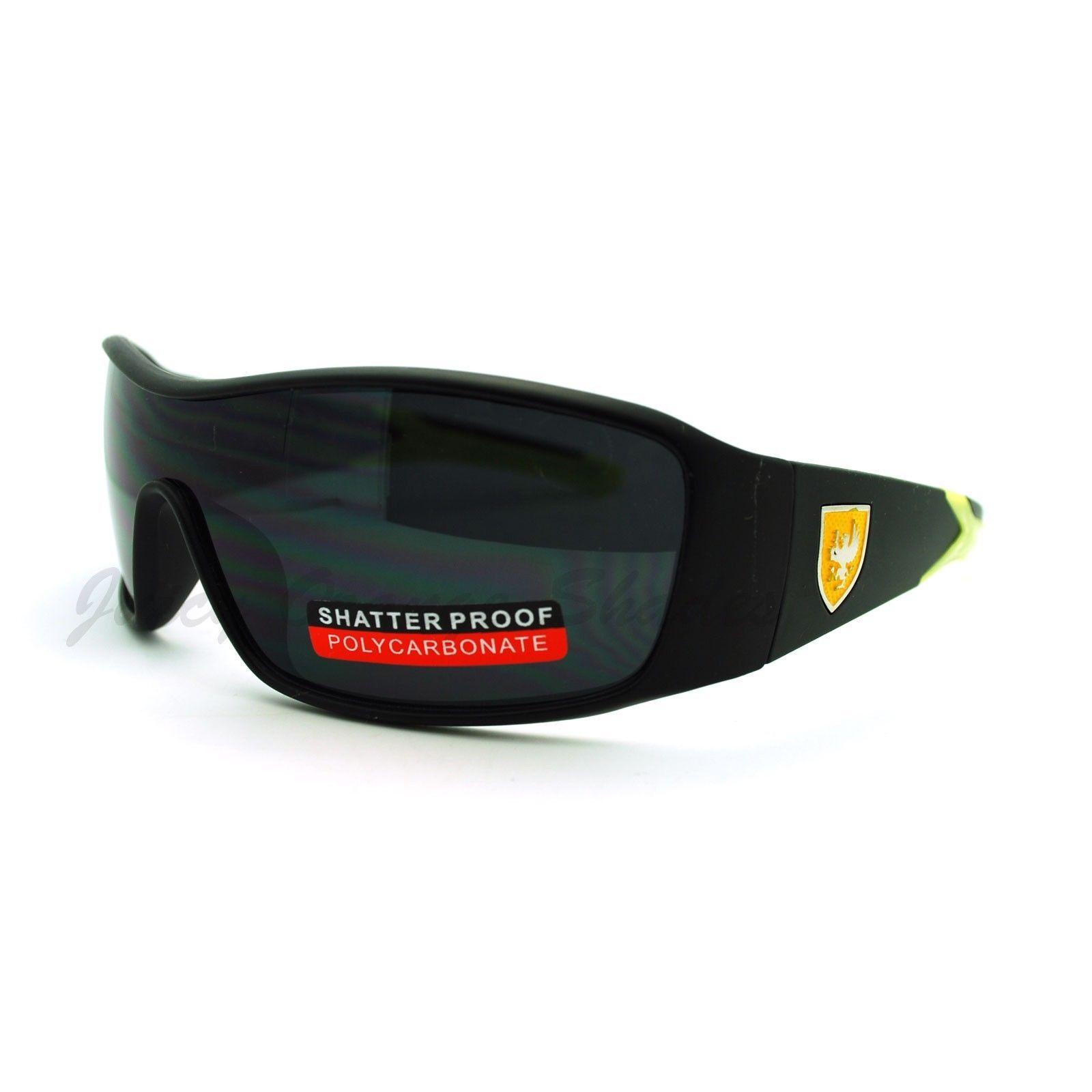 Men's Lite Weight Sports Sunglasses Oval Rectangular Wrap