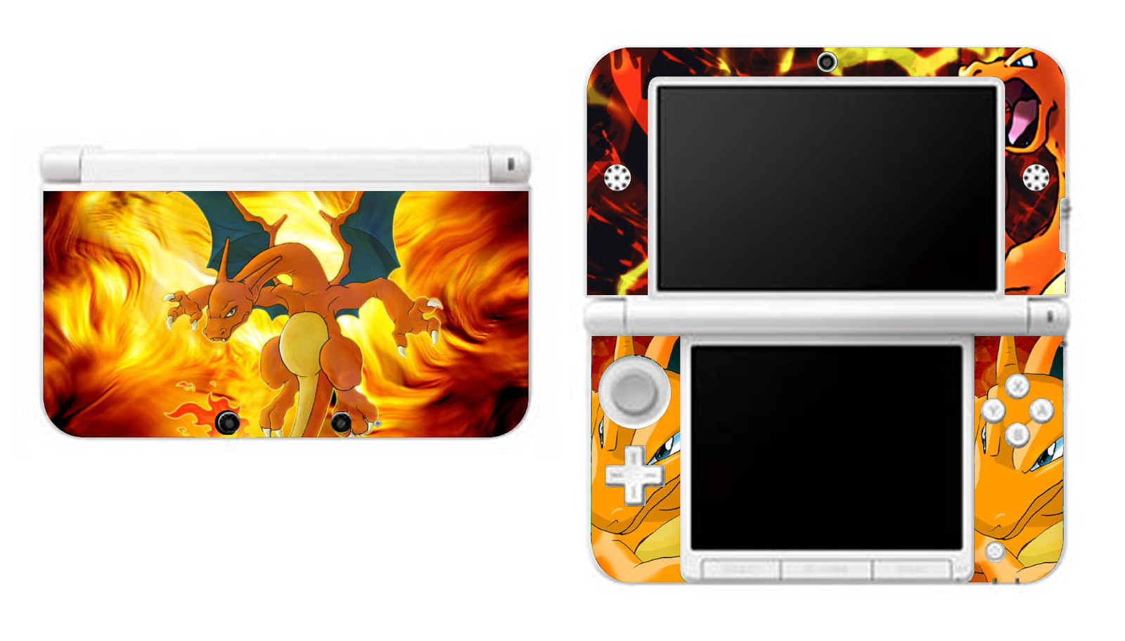 Pokemon Charizard Nintendo 3DS XL LL Vinyl Skin Decal Sticker, used for sale  USA