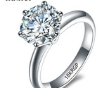 Original 18krgp stamp gold rings set 8mm 2 carat diamant cz engagement rings white thumb155 crop