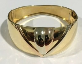 18k Tri Color Gold Vintage Bangle Bracelet - $1,657.00