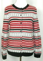 Talbots Fair Isle Nordic Button-Front Cardigan Lambswool Sweater Petite ... - $20.27