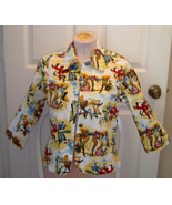 Mirror Image Multi Color Dancers Cotton Blend Light Weight Jacket Size M  - $24.99