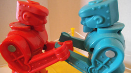 Rock em Sock em Robots Classic Box Boxing Toy Game Kids red Rocker Blue Bomber - $19.99