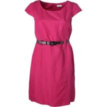 2798-1 Tahari Asl Women's Belted Linen-Blend Sheath Dress pink 10 MSRP $129 - $34.24