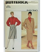 Butterick Sewing Pattern 4776 Misses Jacket Skirt Blouse Tie Size 6 8 10 - $10.12