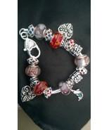 7.5 European Charm Bracelet Full of Charm Beads! Great Price - $25.00