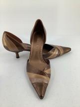 "Gianni Bini Womens 7 1/2M Pumps Pointed Toe 2"" Heel Metallic Brown Bronze - $17.75"