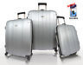 Traveler's Choice Silver Rome 3pc Hardcase Spinner Rolling Luggage Set T... - $128.69