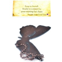 Country Western Rusted Patina Iron Metal Cutout Butterfly Fan Light Pull Chain image 2