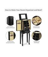 "34"" Wooden Jewelry Armoire 2 Door & 4 Drawer Organize & Store Bracelets ... - $87.98"