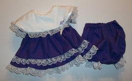 Preemie & Newborn Girls Purple Cotton Lace Dress and Diaper Cover