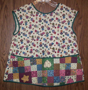 Little Girls Sunbonnet Girl Apron fits 2-6 Years