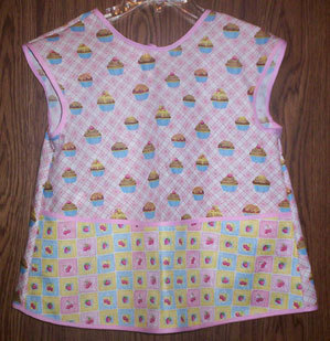 Girls Cupcake Apron fits 2-6 Years