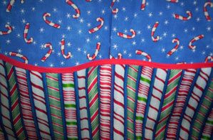Childs Candy Cane Apron fits 2-6 Years