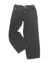 "Boy Size 10 Husky Arizona Black Jeans Relaxed Fit Inseam 23""  5 Pocket Cotton - $10.77"