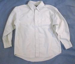 Boy Size 8 Light Green Pinstripe Casual Dress Shirt Cherokee Long Sleeve Cotton - $7.73