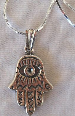 Hamsa silver pendant AB