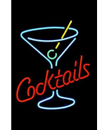 "New Cocktails Martini Glass Logo Beer Bar Neon Light Sign 18""x16"" [High Quality] - $129.00"
