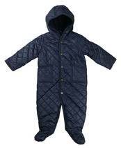 Polo Ralph Lauren Infant Baby Quilted One Piece Snowsuit, Navy, 9Months,... - $63.10