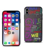 REIKO IPHONE X DESIGN TPU CASE WITH VIBRANT WORD CLOUD JESUS LETTERS - $8.05