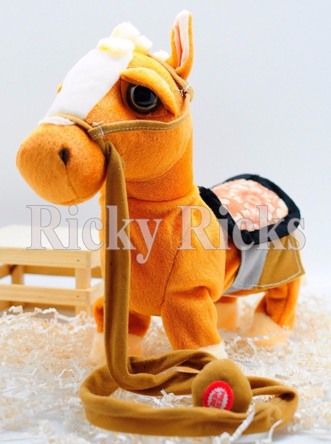 Walking Horse Pony Musical Singing Toy Plush Doll Saddle Riding Electronic