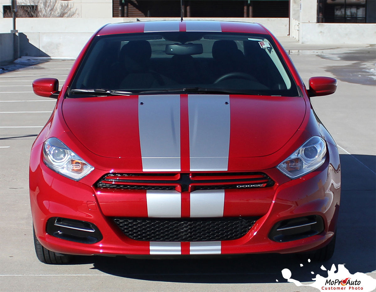 2013-2014 Dodge Dart Rally Racing Stripes Hood Vinyl ...
