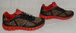 Crazy Train RUNWILD14 Black Red Cheetah Sneakers Size Ten image 3